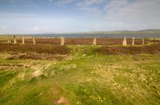 Free Ring Of Brodgar Royalty Free Stock Photos - 9966888