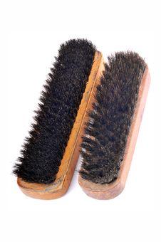 Shoe Polish Brushes Stock Photo