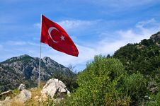 Free Turkish Flag Royalty Free Stock Photo - 9967585