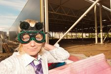 Portrait Of Engineer In Protective Glasses Royalty Free Stock Photo