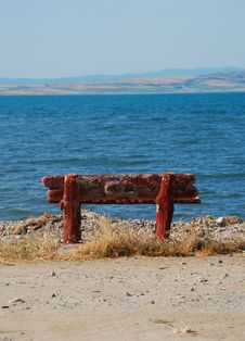 Free Alone Bench At The Beach Stock Photo - 9967800