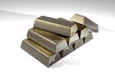Free Gold Ingots Royalty Free Stock Photo - 9967855