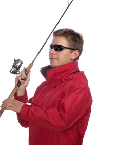 Free Fisherman With Spinning Royalty Free Stock Photography - 9968457