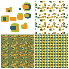 Free Retro Squares Swatch Set Stock Photo - 9968980
