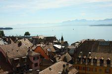 Free Nyon And Lake Geneva Stock Image - 9969341