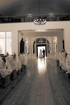 Wedding Ceremony In Church Stock Images