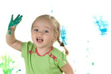 Free A Little Girl In Studio Royalty Free Stock Photo - 9969475