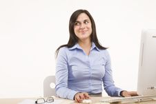 Free Smirk At Work Royalty Free Stock Photo - 9969945