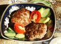 Free Cutlets In A Plate Stock Image - 9977791