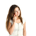 Free A Girl Speaking By Mobile Phone Royalty Free Stock Image - 9979546