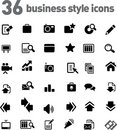 Free Vector Icons Set Stock Photography - 9979562