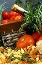 Free Pasta And Tomato Setup Stock Images - 9979844