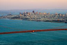 Free San Francisco At Sunset Royalty Free Stock Photography - 9970417
