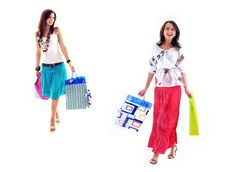 Free Happy Shopping Girls Royalty Free Stock Images - 9972459