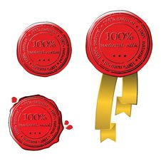 Sale Wax Stamp - Vector Set Royalty Free Stock Image