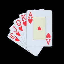 Free Royal Flush Royalty Free Stock Photo - 9973355