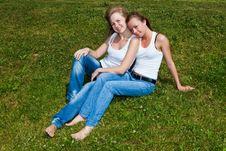 Free Two Girls Royalty Free Stock Image - 9974246