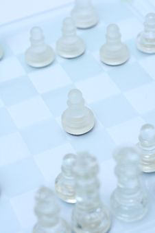 Free Transparent Chess On A Light Blue Background Stock Image - 9975391