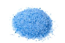 Heap Of Blue Herbal Salt Isolated Royalty Free Stock Photo