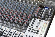 Free Audio Mixing Board Stock Photo - 9975450