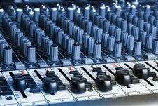 Free Audio Mixing Board Stock Photography - 9975482