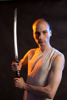 Free Male With Katana Royalty Free Stock Photography - 9975767