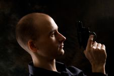 Free Man With A Gun Stock Photography - 9975792