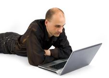 Free Man With Laptop Computer Stock Photo - 9975800