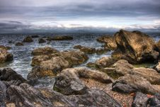 Free HDR Sea Stone Royalty Free Stock Images - 9976179