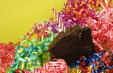 Birthday Party Chocolate Cake Royalty Free Stock Photos