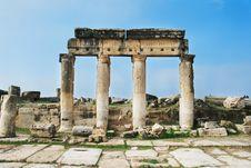 Ruins Of Ancient Roman City Hierapolis. Royalty Free Stock Photo