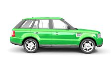 Free Four-wheel Drive Green Car Side View Stock Image - 9978691
