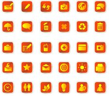 Free Vector Icons Set Stock Photography - 9979302