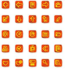 Free Vector Icons Set Royalty Free Stock Image - 9979306
