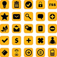 Vector Icons Set Stock Image