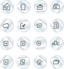 Free Vector Icons Set Royalty Free Stock Image - 9979326