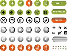 Free Vector Icons Set. Royalty Free Stock Images - 9979499