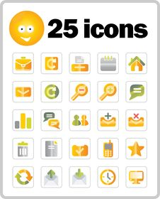 Free Vector Icons Set Royalty Free Stock Images - 9979559