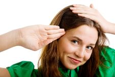 Free Woman Rendering A Salute Stock Image - 9979731