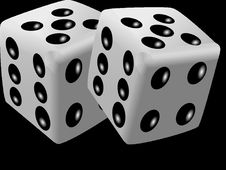 Free Black And White, Dice, Dice Game, Monochrome Photography Royalty Free Stock Photography - 99752047