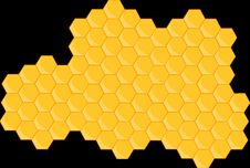 Free Yellow, Honeycomb, Pattern, Symmetry Royalty Free Stock Images - 99752849
