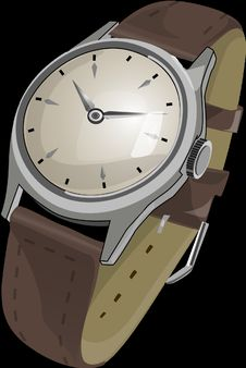 Free Watch, Watch Accessory, Brown, Watch Strap Royalty Free Stock Image - 99753436