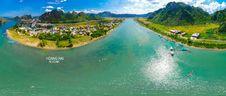 Free Aerial View Of Coastal Waterway Royalty Free Stock Photo - 99789235