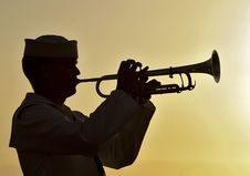 Free Trumpeter Sailor Military Navy Stock Photography - 99789542