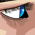 Free Drawing Of Blue Eye Royalty Free Stock Image - 9981826