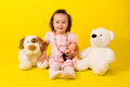 Free Little Girl With Toys Stock Image - 9988831