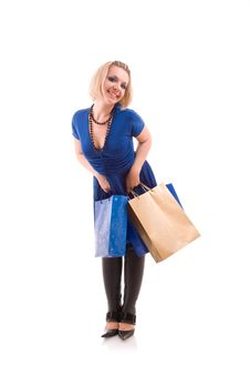 Free Young Woman With Shopping Bags Stock Photos - 9980063
