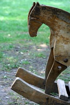 Free Wooden Horse Royalty Free Stock Image - 9980456