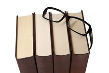Free Pile Of Books With Glasses Stock Images - 9981384
