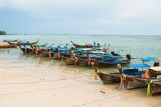 Thailand Longtail Boats Stock Image